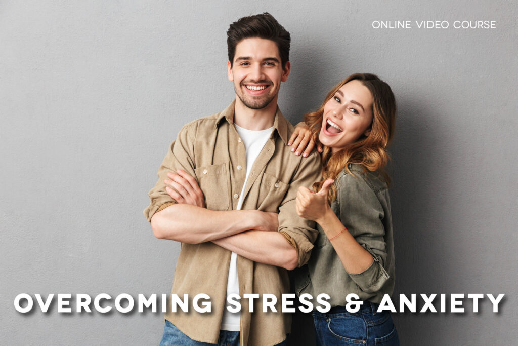 Young couple looking happy and free from stress & anxiety