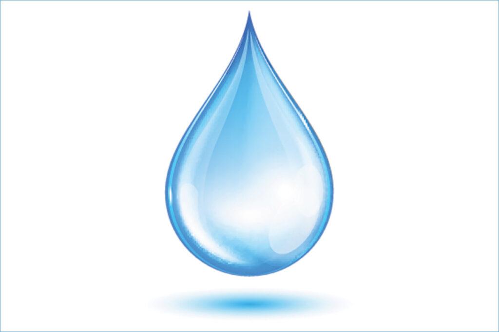 peaceful water drop