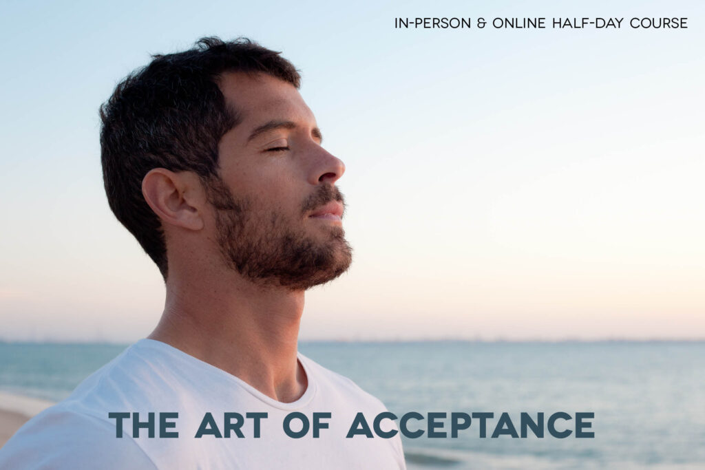 Peaceful image of man meditating